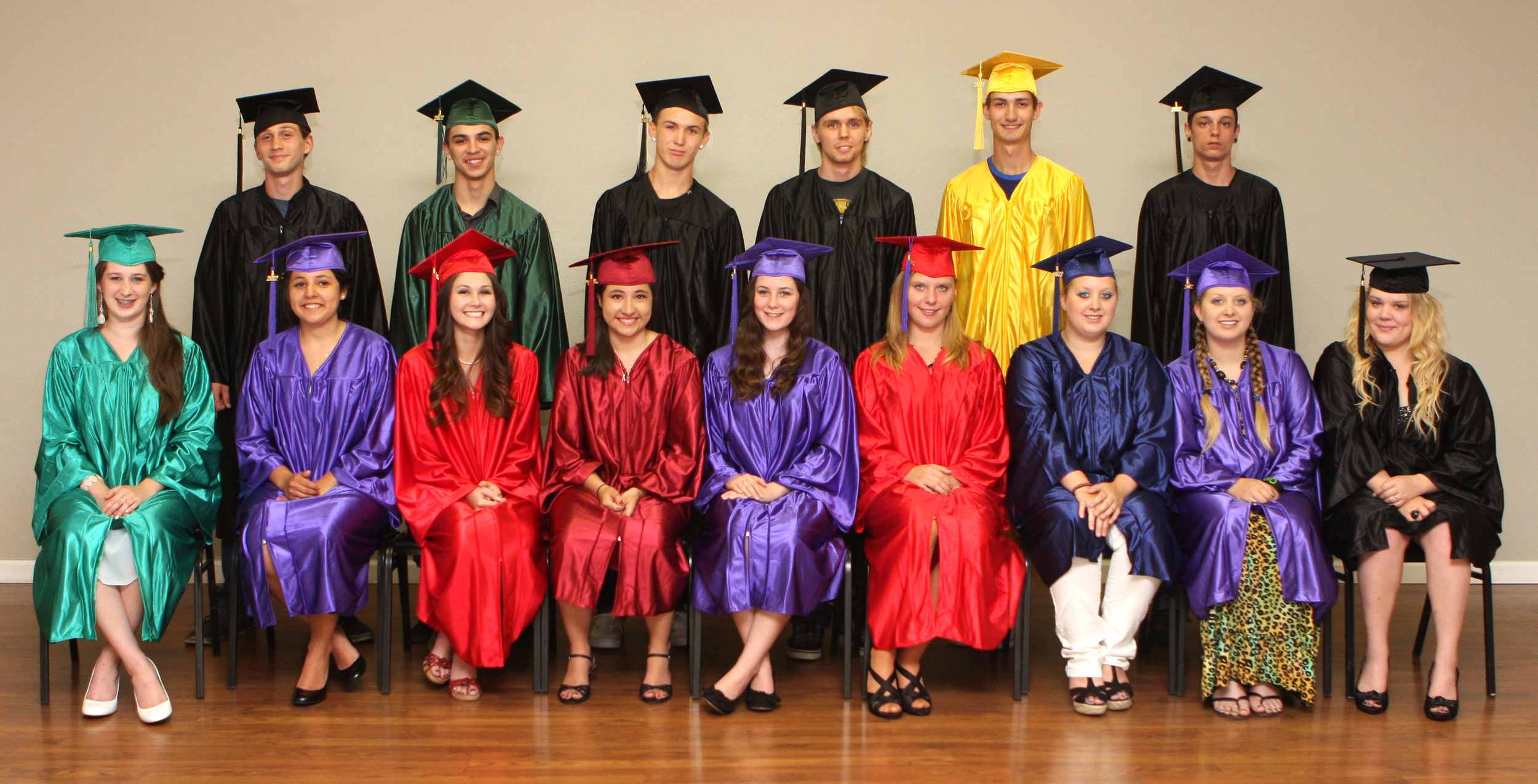 We are dedicated to student choice and allow our students to pick their graduation gown colors!