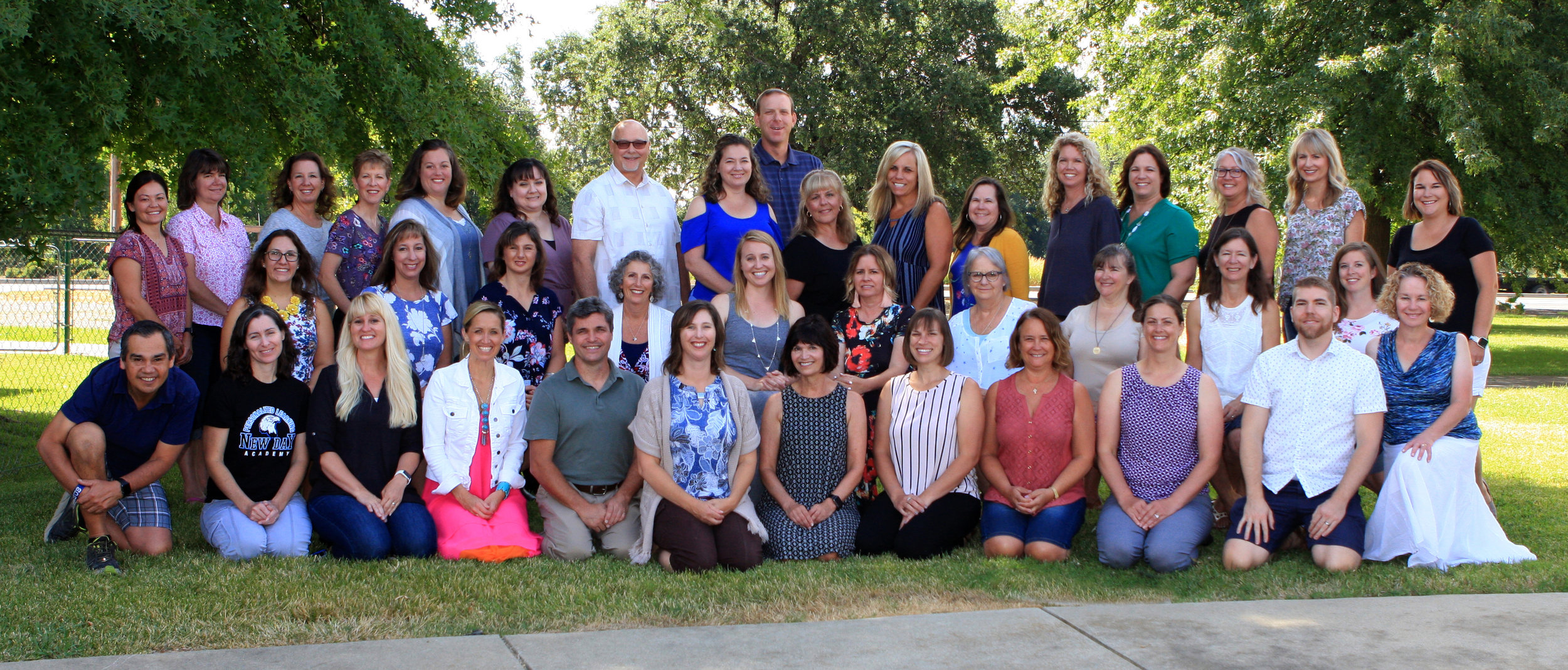 2019-2020 New Day Academy Staff and Board of Directors