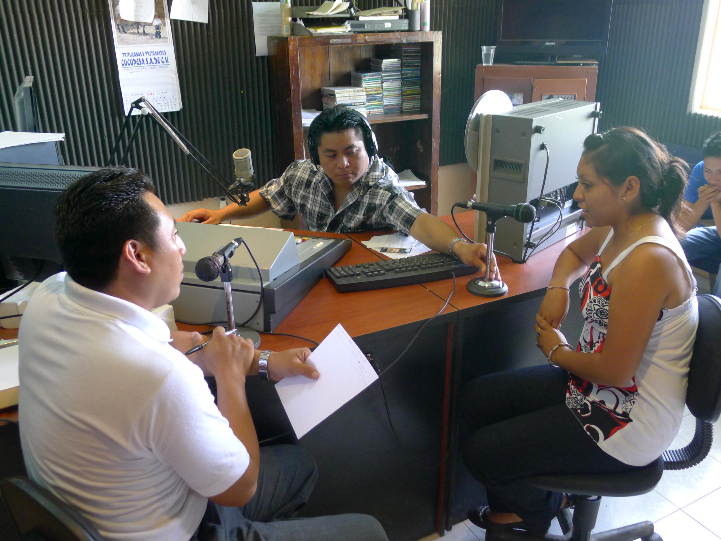 Semillas Tzucacab and Leo on Xeped Mayan Radio - Devon Sampson.jpg
