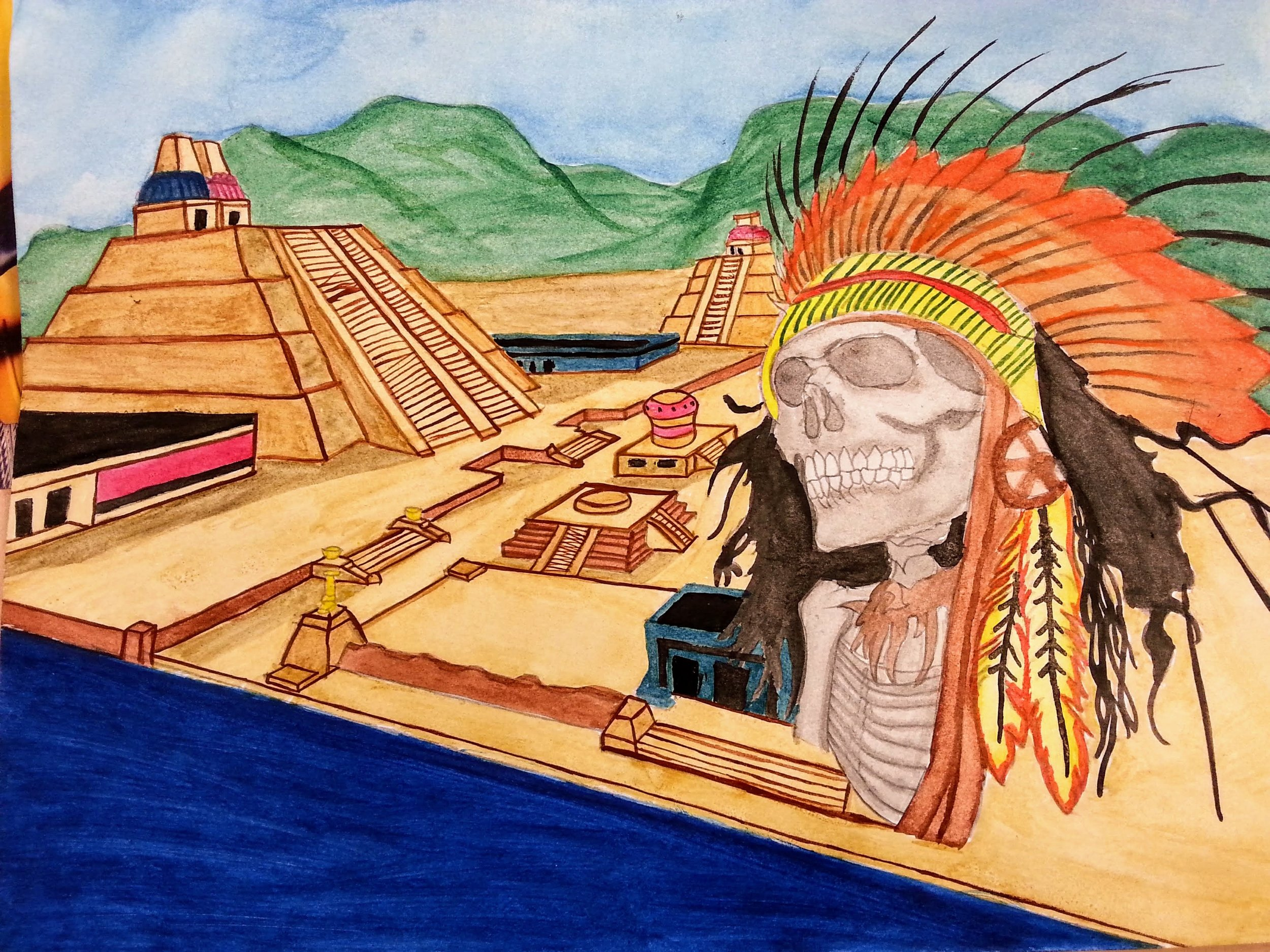 Watercolor_Aztec_Arturo Mejia.jpg