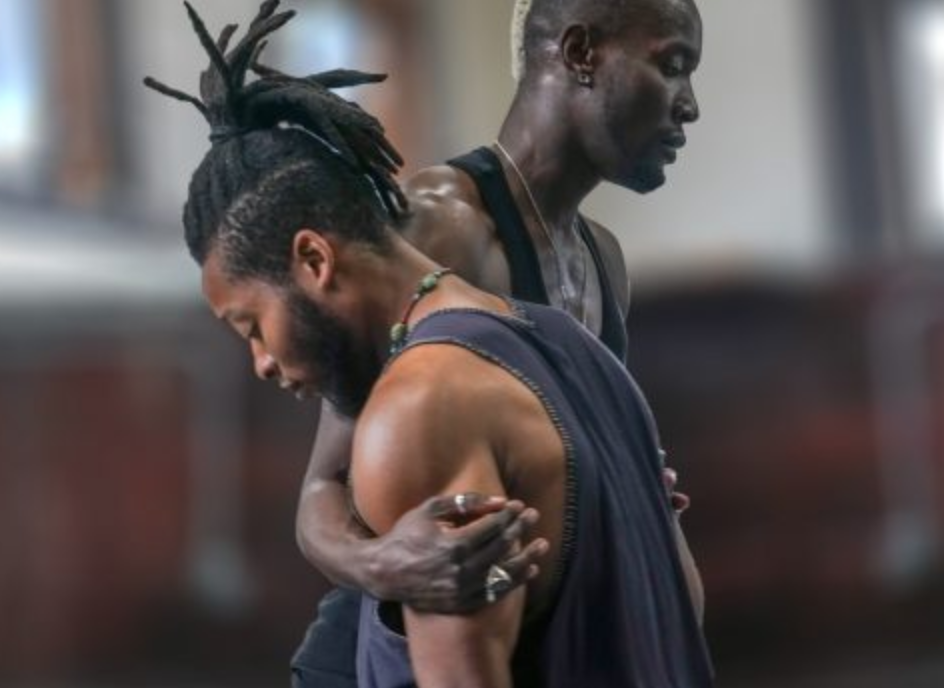 """photo: beheardworld.com from """"Invisible: Imprints of Racism"""" performance"""