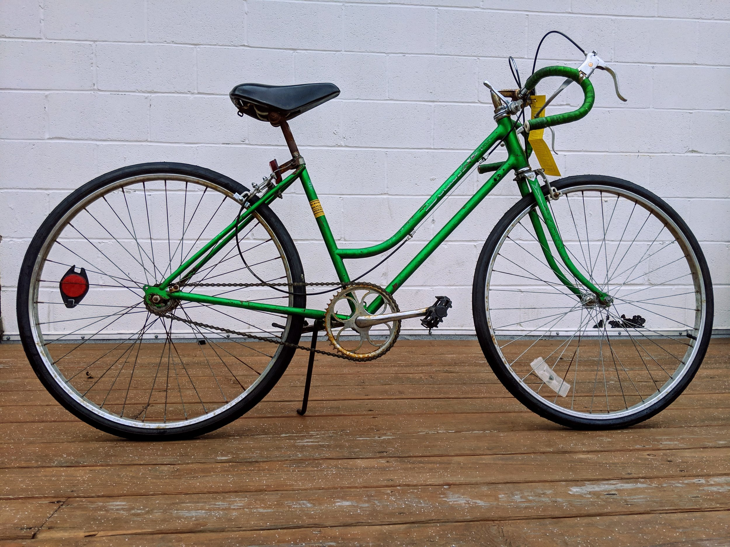 44cm Green Schwinn Single Speed $175