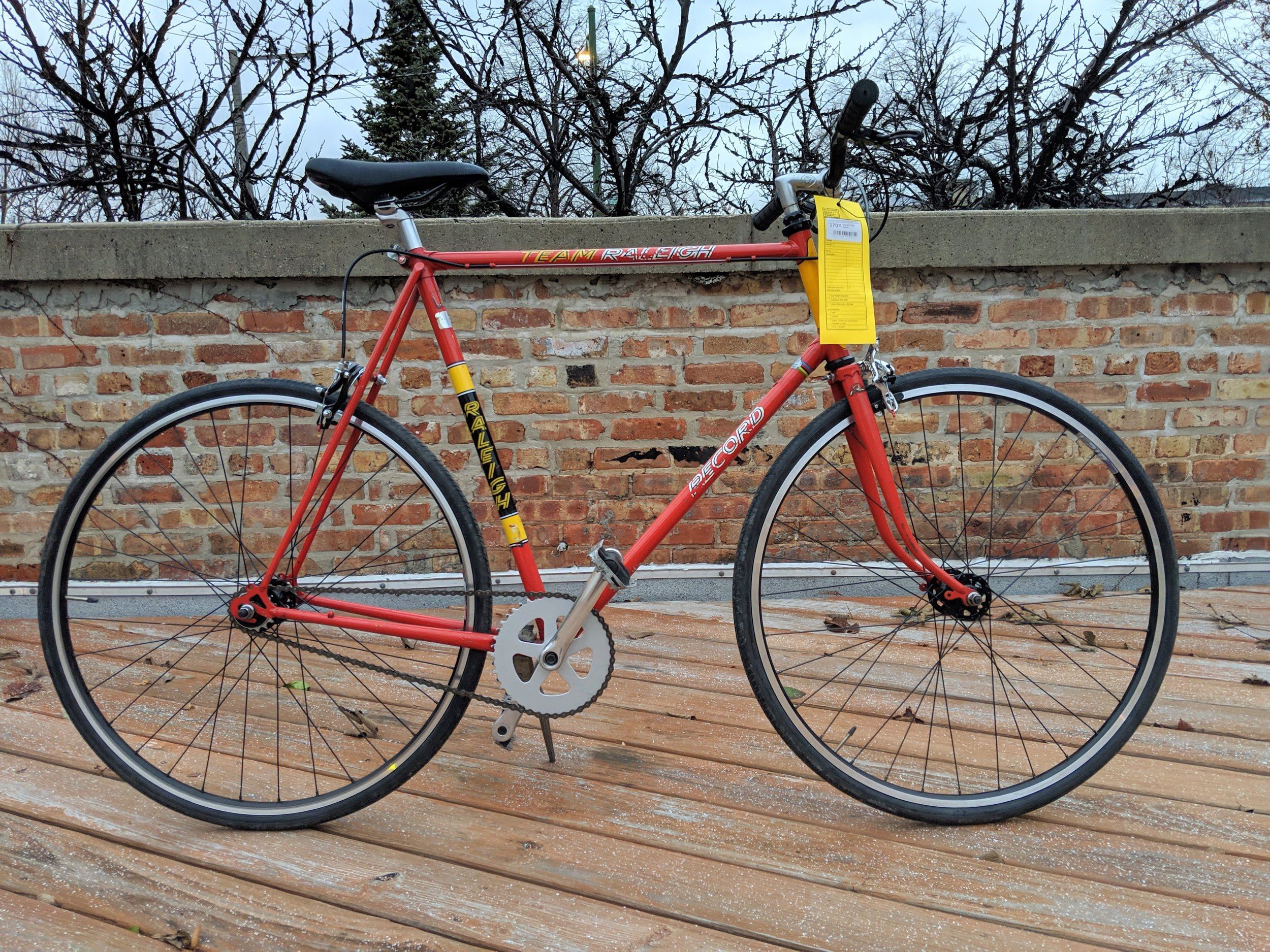 62cm Red Raleigh Team Record Single Speed $270