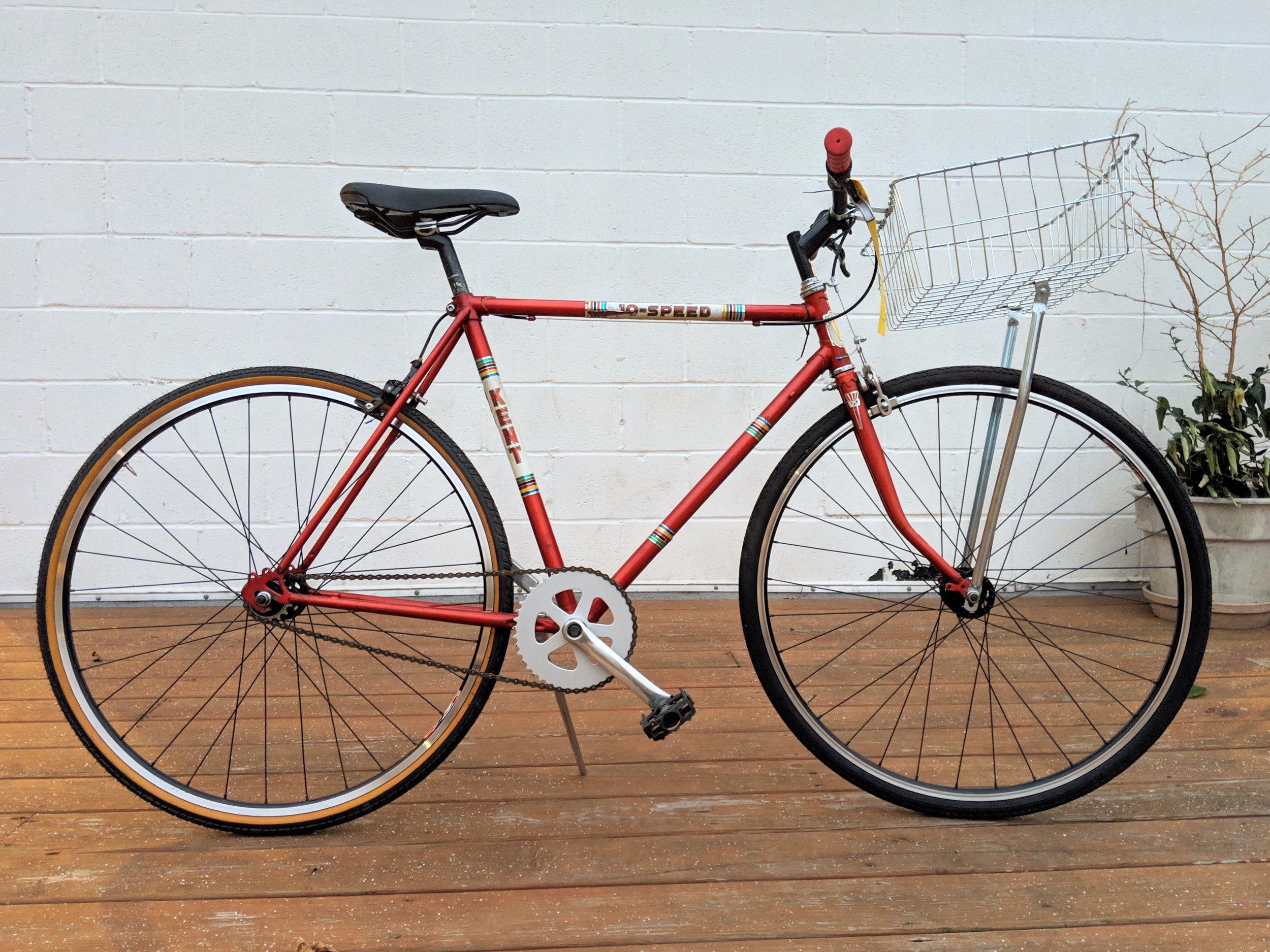 53cm Red Kent Single Speed $250