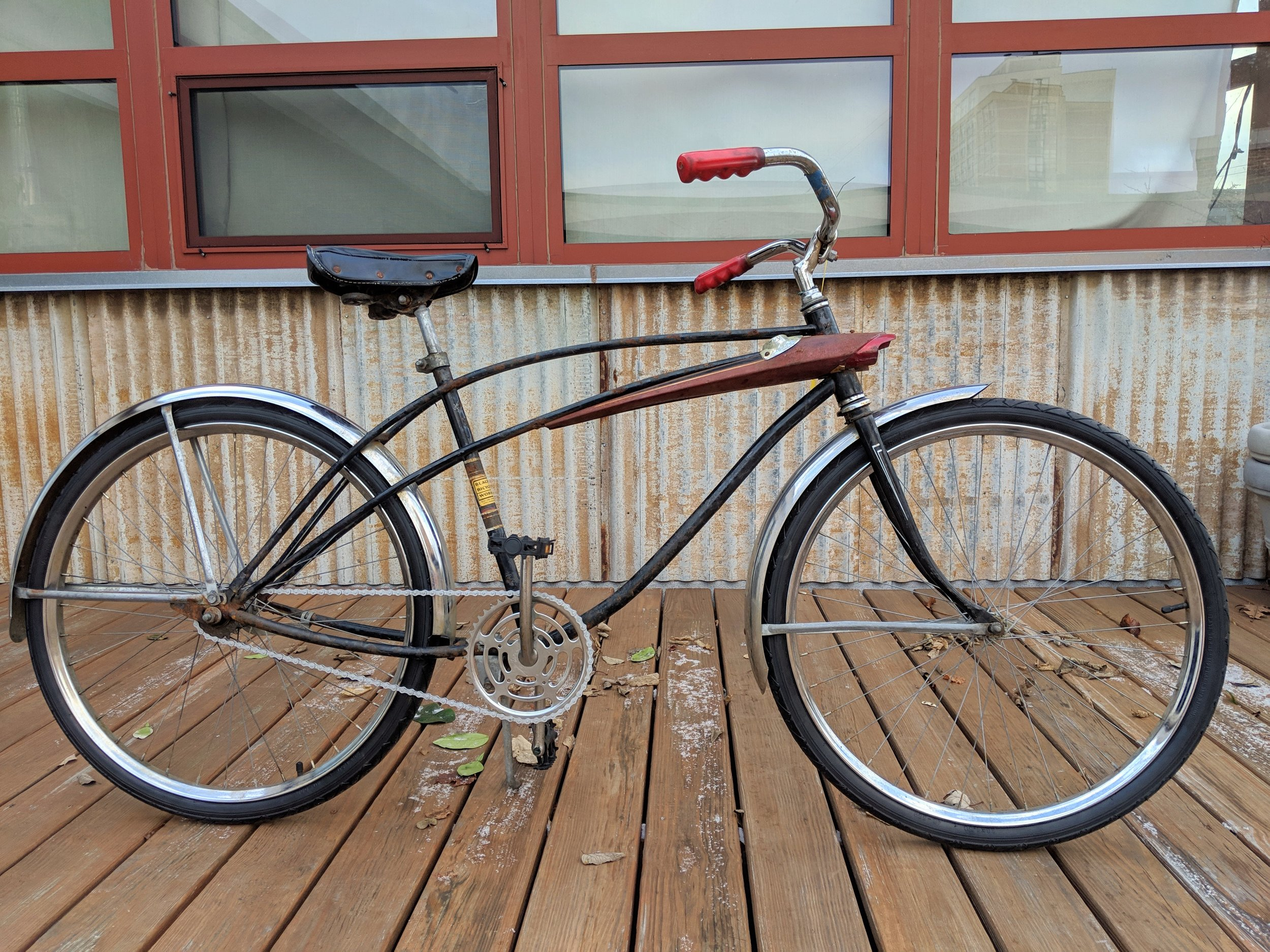 45cm Black Single Speed Cruiser $135