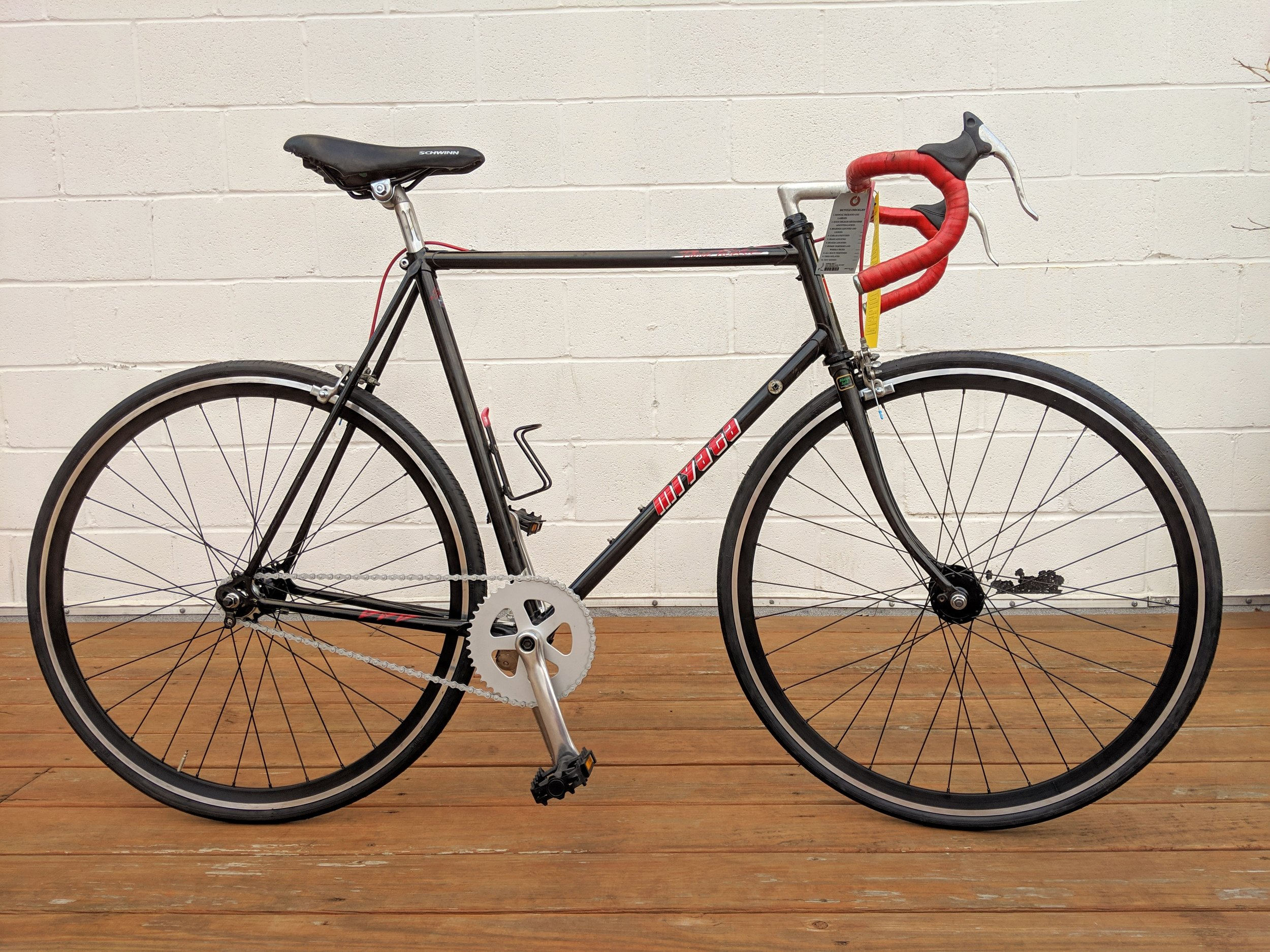 58cm Black Miyata Three Twelve Single Speed $350