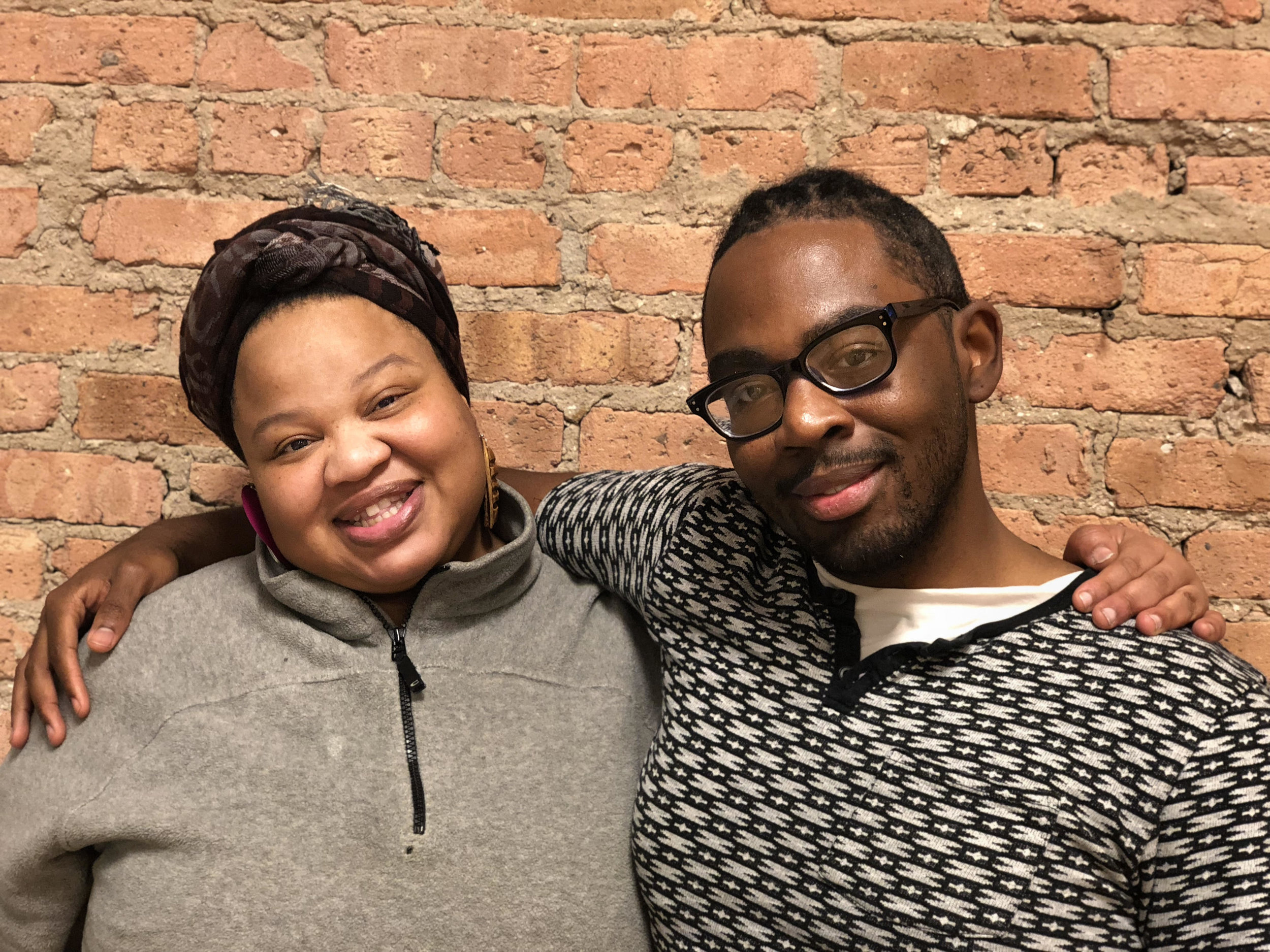 Angel Bat Dawid and Julian Otis, organizers of Self Care = Resistance