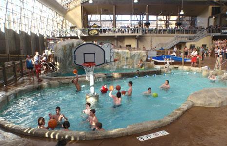 Pool basketball area at Jay Peak Resort in Jay, VT