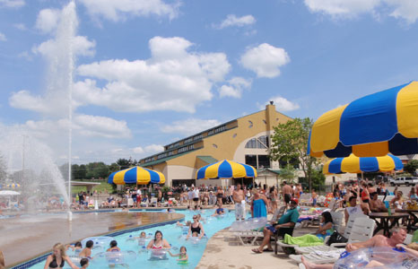 Lazy river at Mt. Olympus Water & Theme Resort in Wisconsin Dells, WI