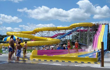 Mat racing slides Mt. Olympus Water & Theme Resort in Wisconsin Dells, WI