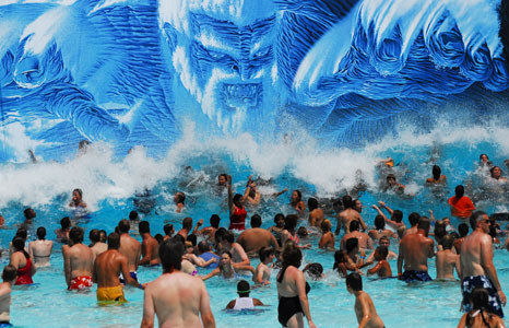 Poseidon's Rage wave pool at Mt. Olympus Water & Theme Resort in Wisconsin Dells, WI