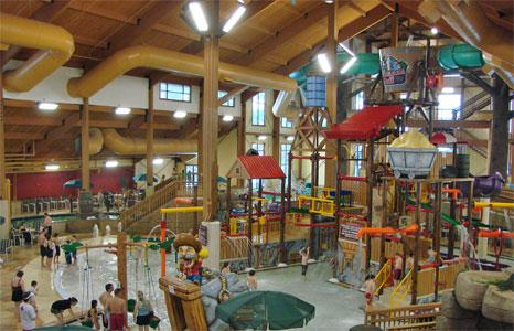 Indoor play structure at Wilderness Resort in Wisconsin Dells, WI