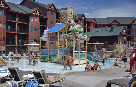 Outdoor play structure at Wilderness Resort in Wisconsin Dells, WI