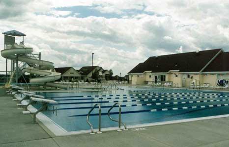 Pool and slide area at Hawks Landing Golf Club in Verona, WI