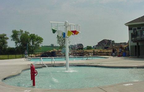Kids pool fun area at Meadow Brook in Waunakee, WI