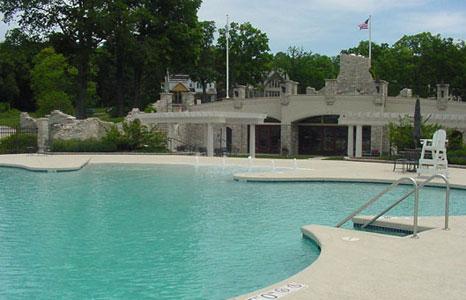 Pool area at South Shore Club in Lake Geneva, WI