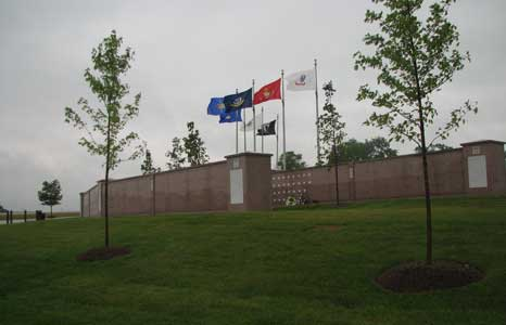 Outside view of the Southern Wisconsin Veteran's Memorial Cemetery in Union Grove, WI