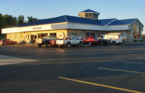 Outside view of All Stop Plaza in Lodi, WI