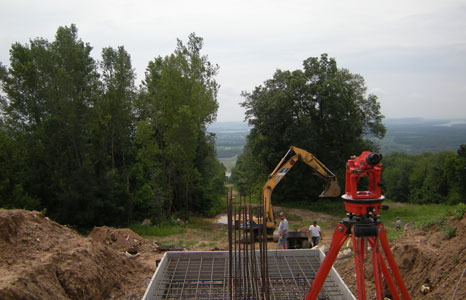 Construction at Devils Head in Merriam, WI