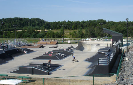 Outdoor skate park at Cranberry Lake Village in Warrens, WI