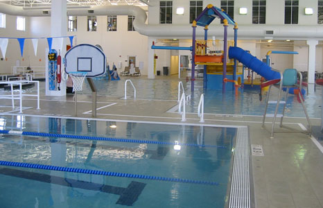 Pool and kids area at the Princeton Club in New Berlin, WI