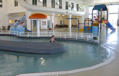 Physical therapy pool area at the Princeton Club in New Berlin, WI
