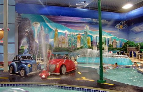Pool area at Action City/Metropolis Resort & Choas Waterpark in Eau Claire, WI