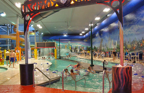 Lazy river area at Action City/Metropolis Resort & Choas Waterpark in Eau Claire, WI