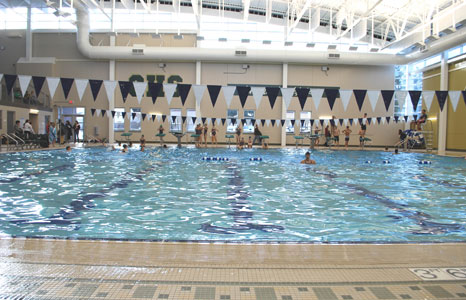 Indoor pool area at Greenfield High School in Greenfield, WI