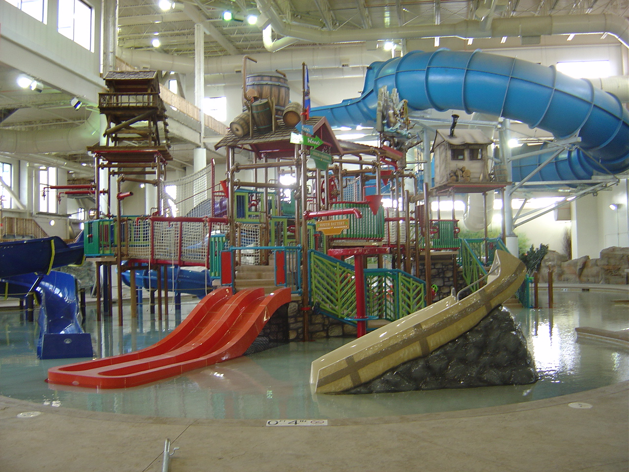 indoor water park play structure at Waterpark of America in Bloomington, MN