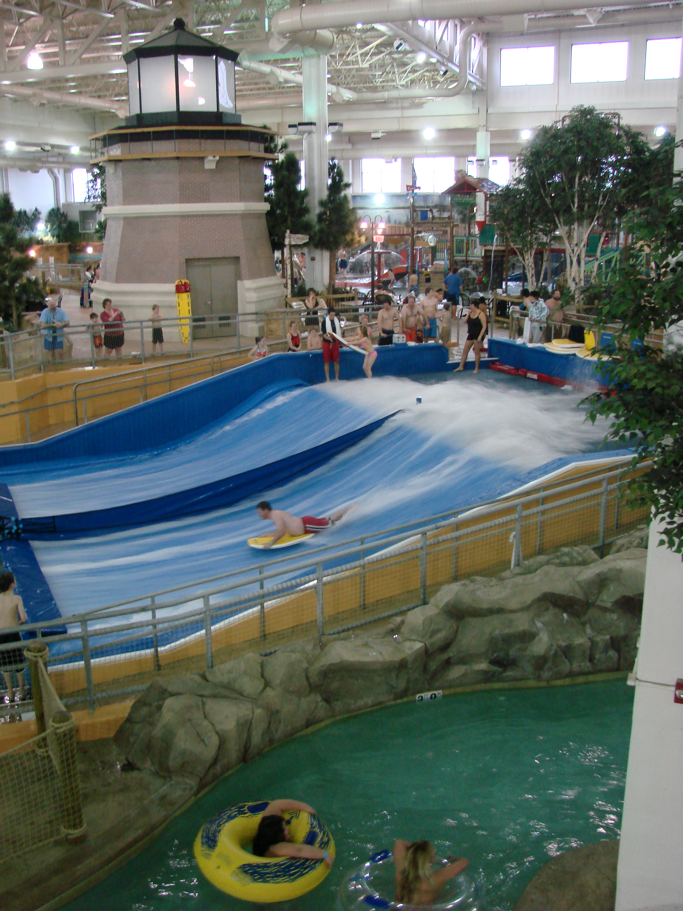 Surfing experience at  Waterpark of America in Bloomington, MN