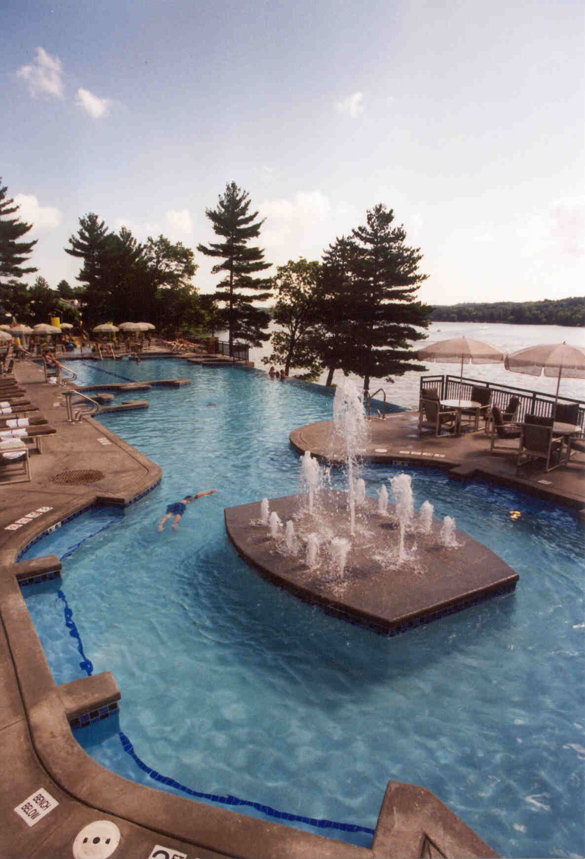 Outdoor pool at the Wilderness on the Lake in Lake Delton, WI