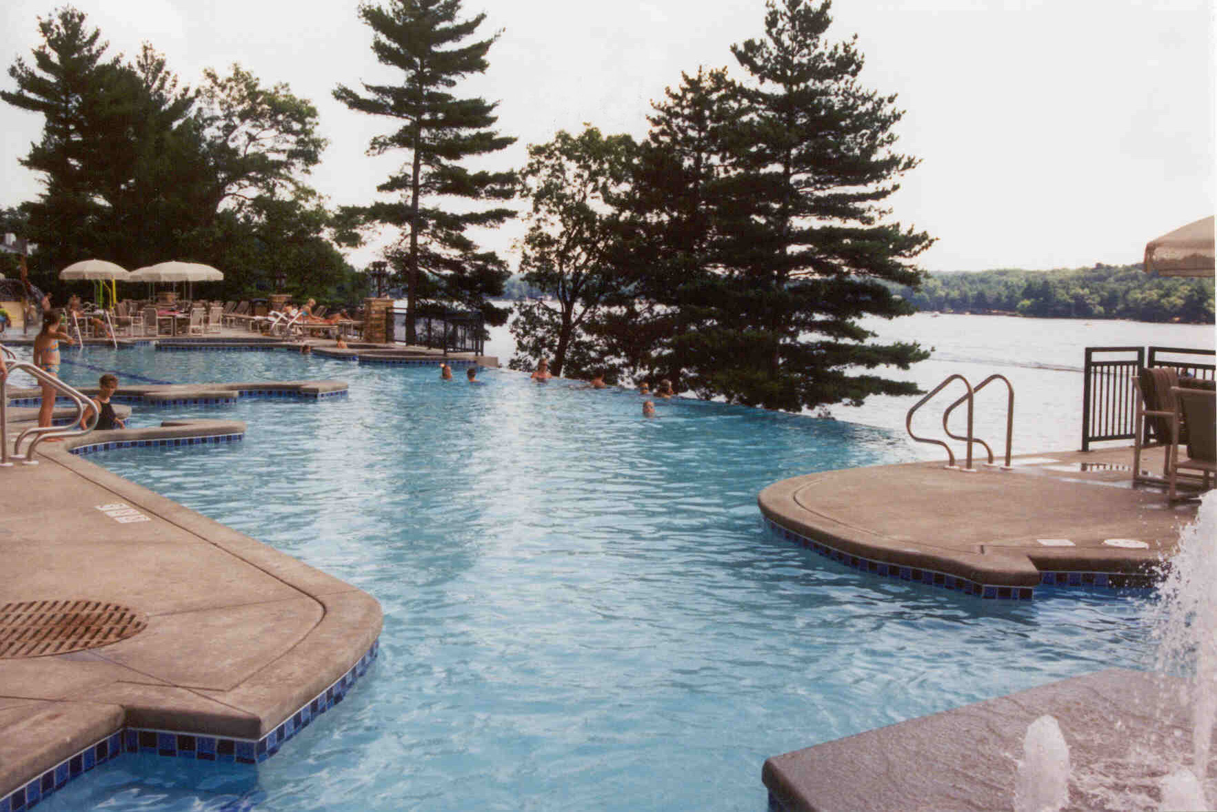Outdoor pool area at the Wilderness on the Lake in Lake Delton, WI