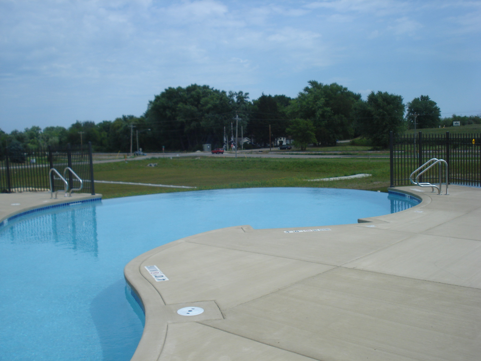Outdoor pool area at The Addison in Fitchburg, WI
