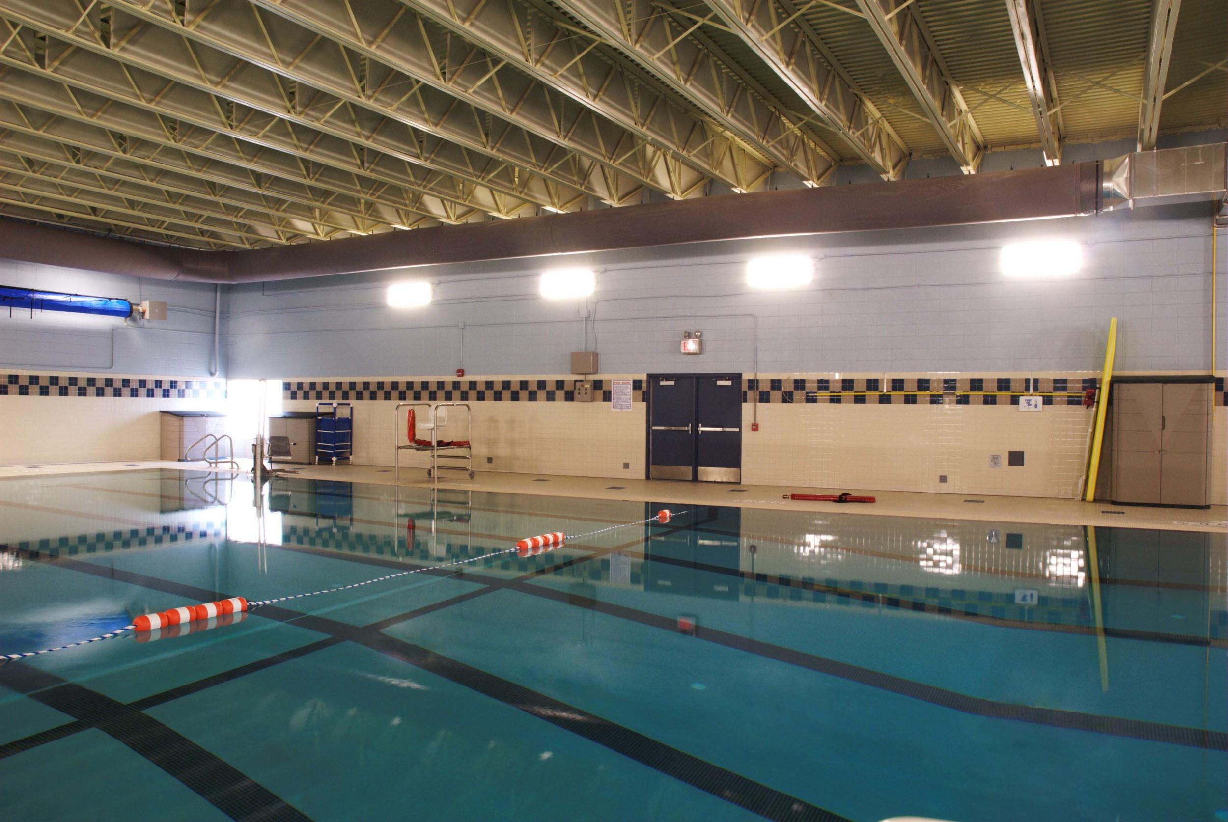 Pool area at Poynette High School in Poynette, WI
