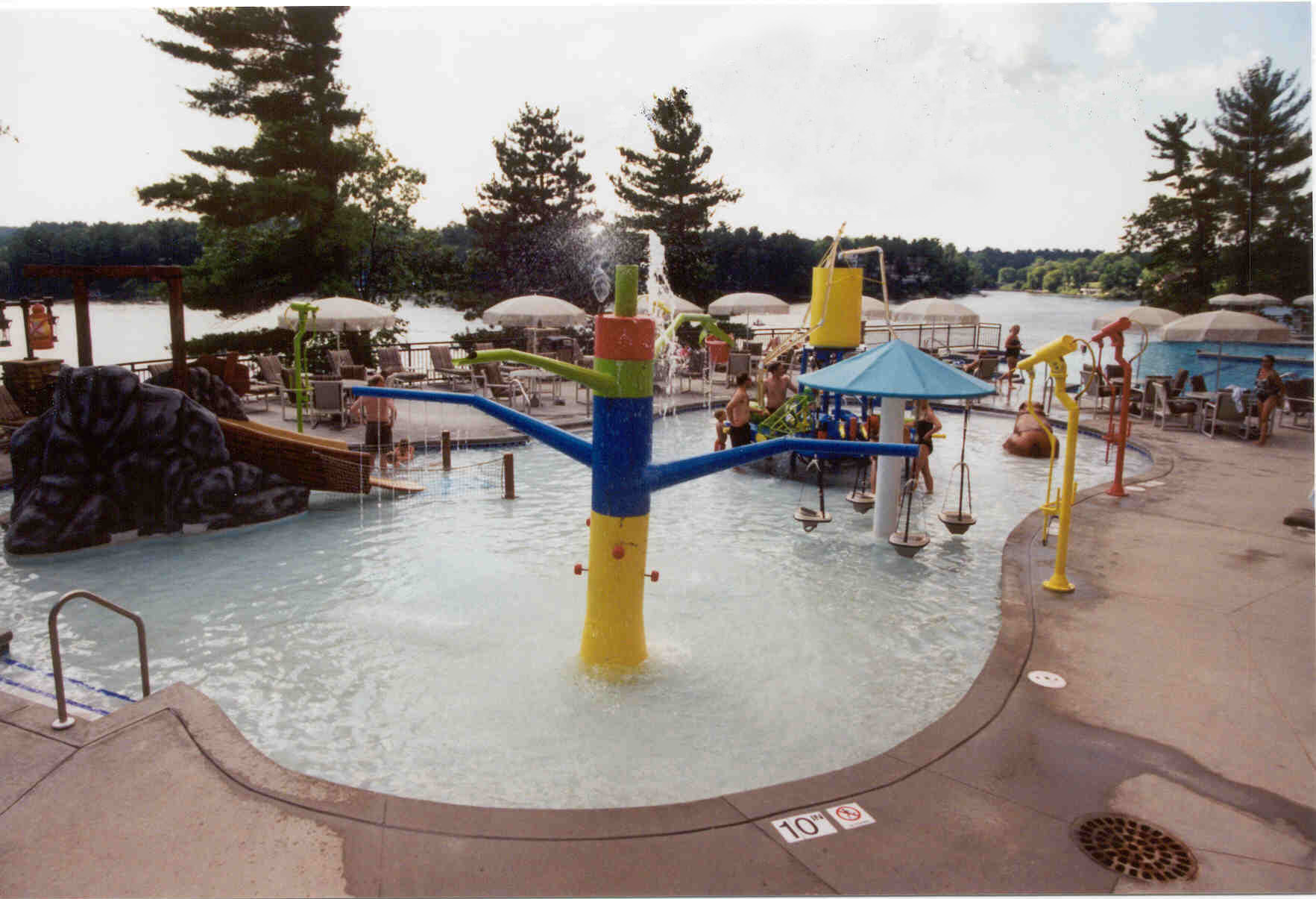Outdoor kids play area at the Wilderness on the Lake in Wisconsin Dells, WI
