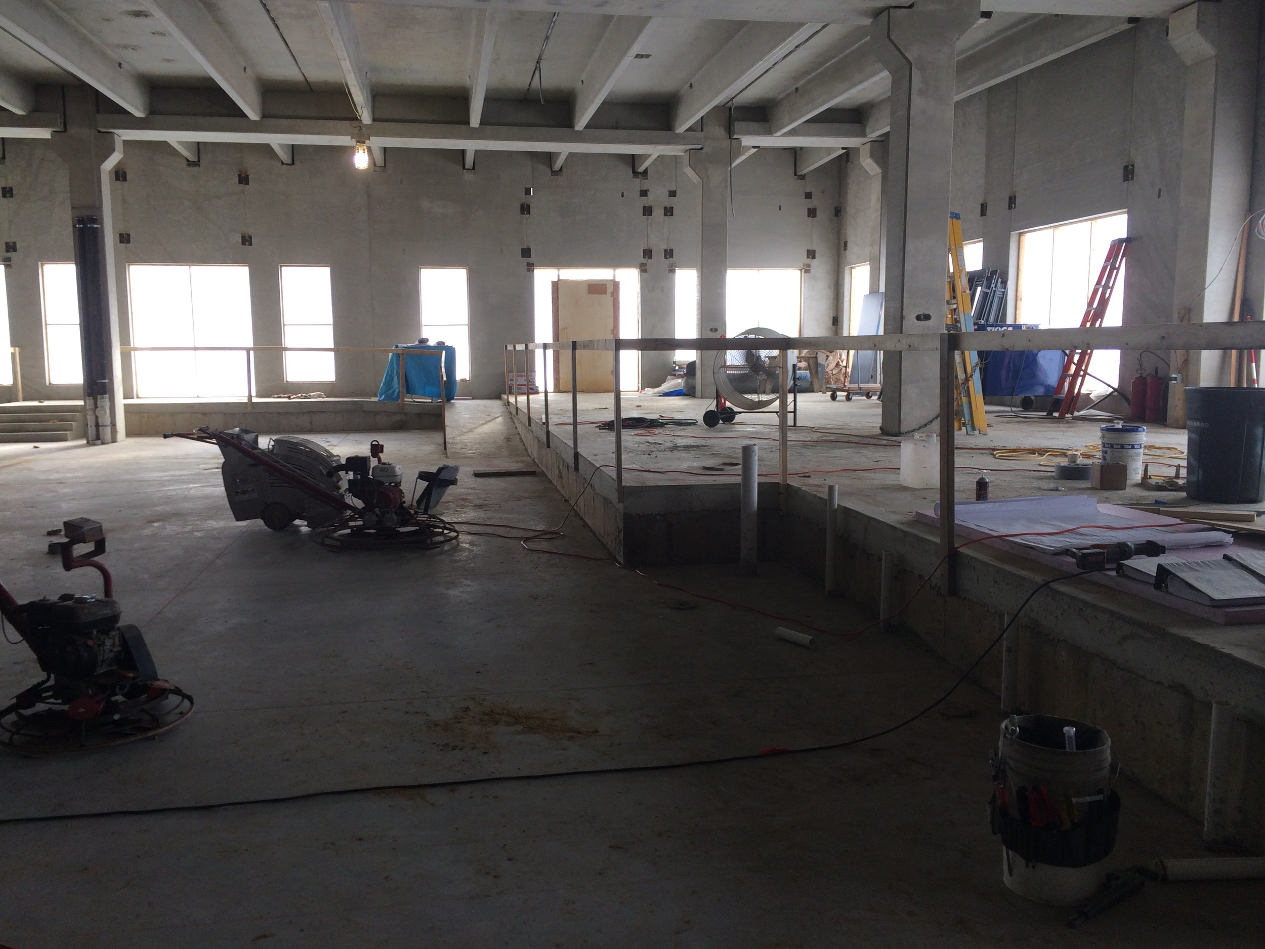 Inside construction of the Homewood Suites by Hilton in Rochester, MN