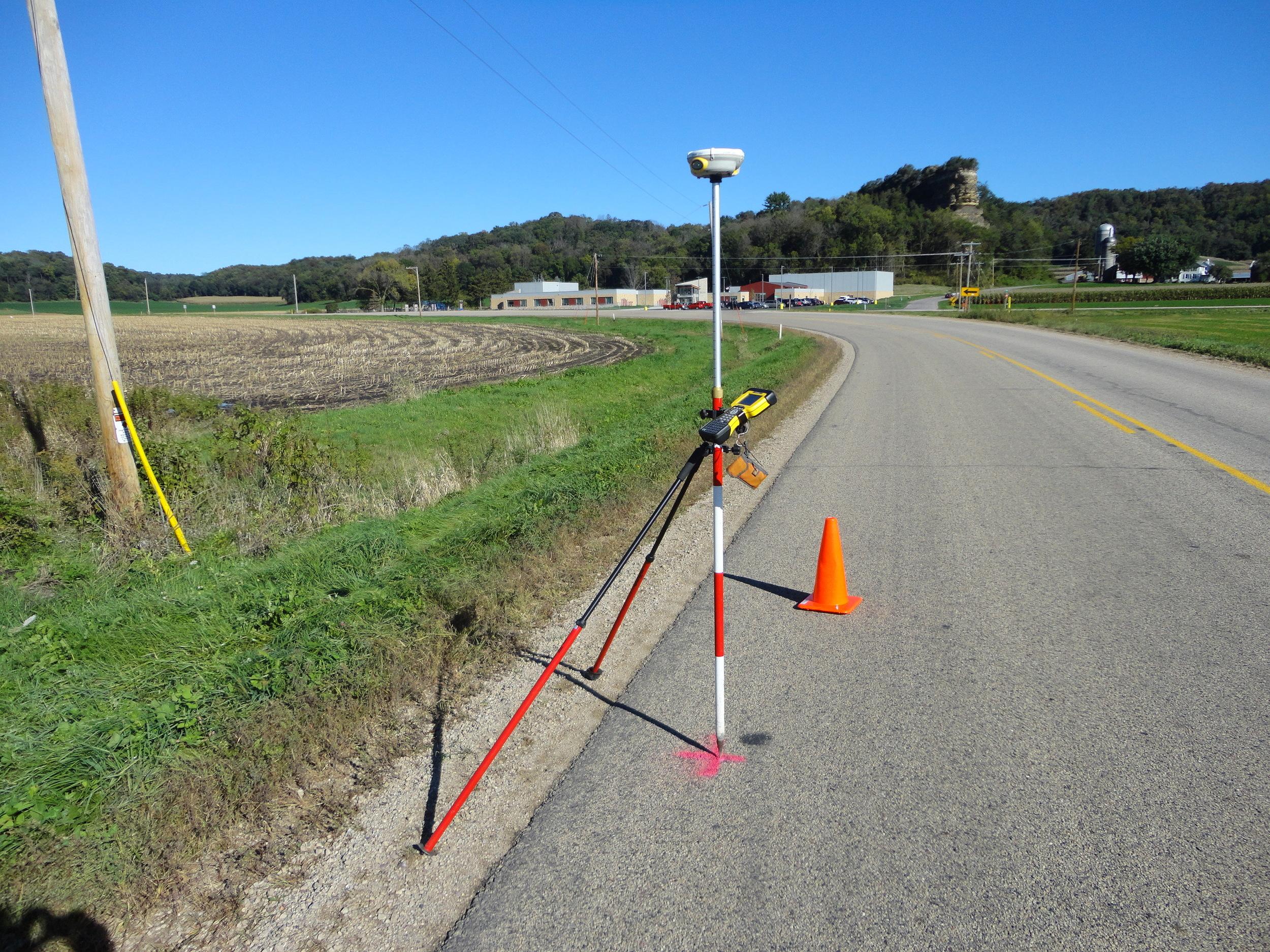 Land surveying example