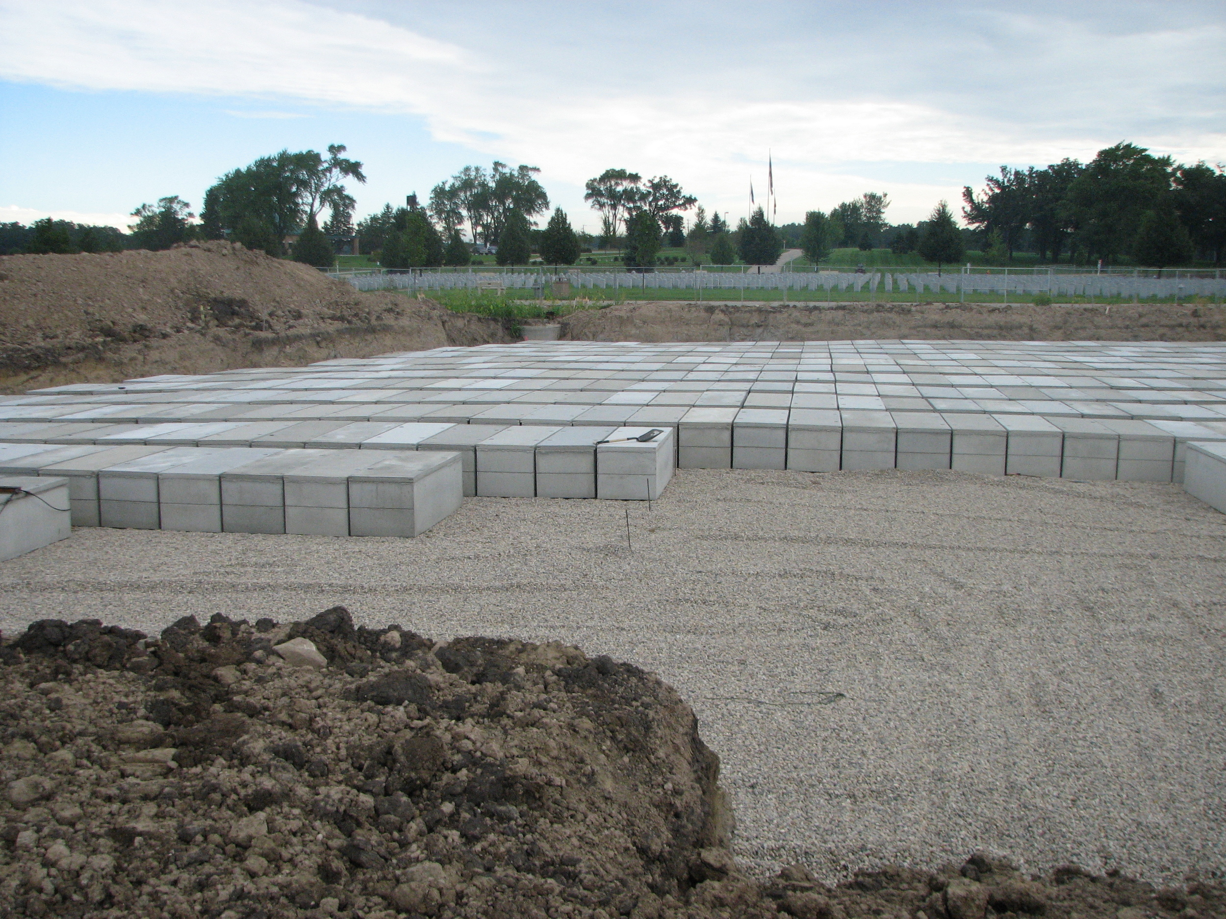 Construction of Southern Wisconsin Veterans Memorial Cemetery