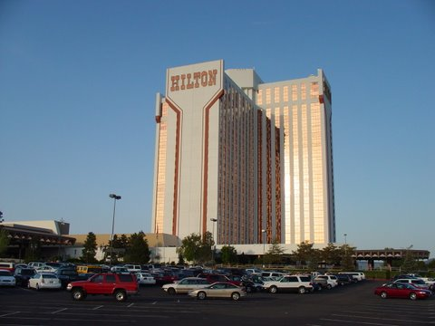 Outside view of a 26 Story Hotel/Casino in Reno, NV