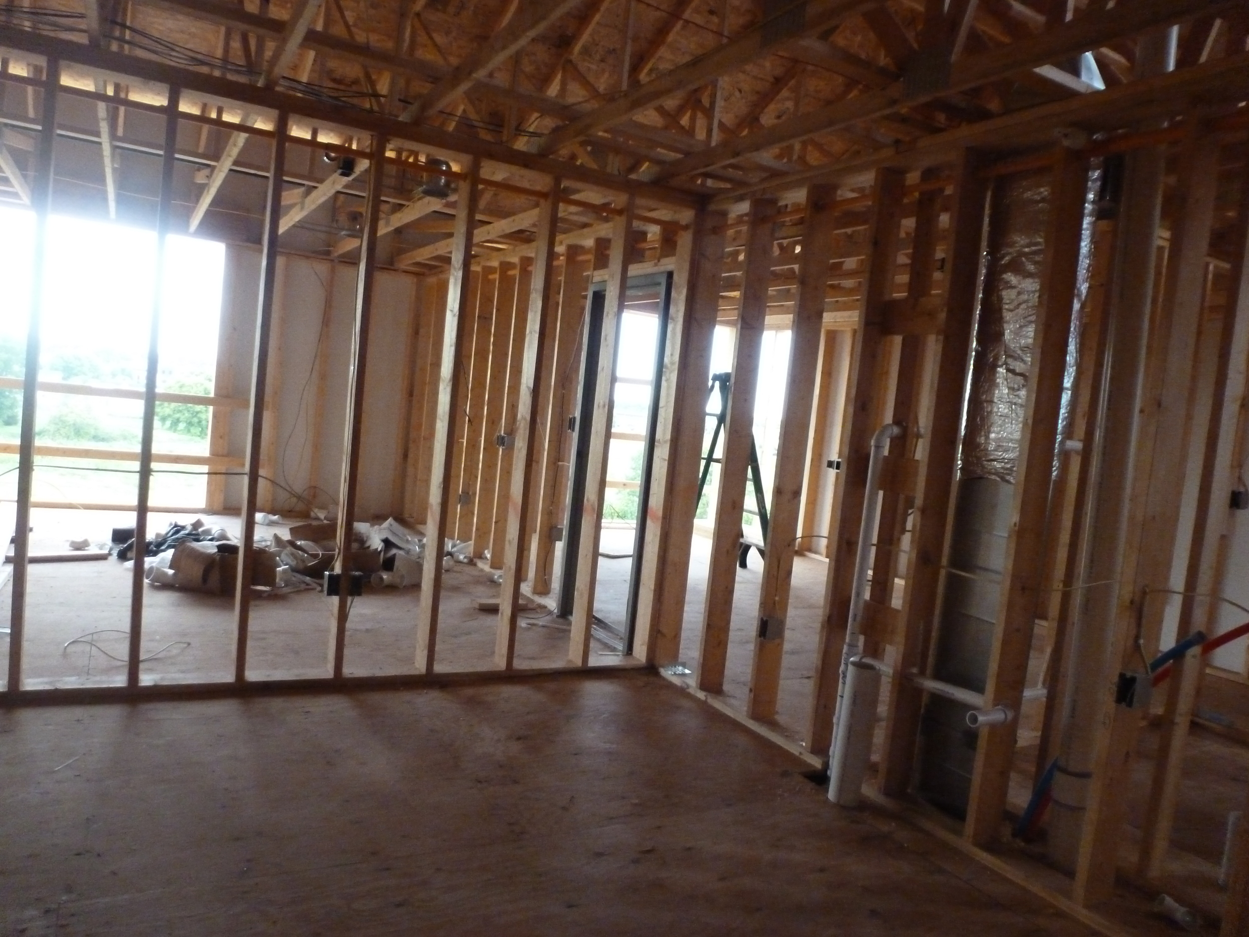 Inside construction of Legacy Property in Willmar, MN