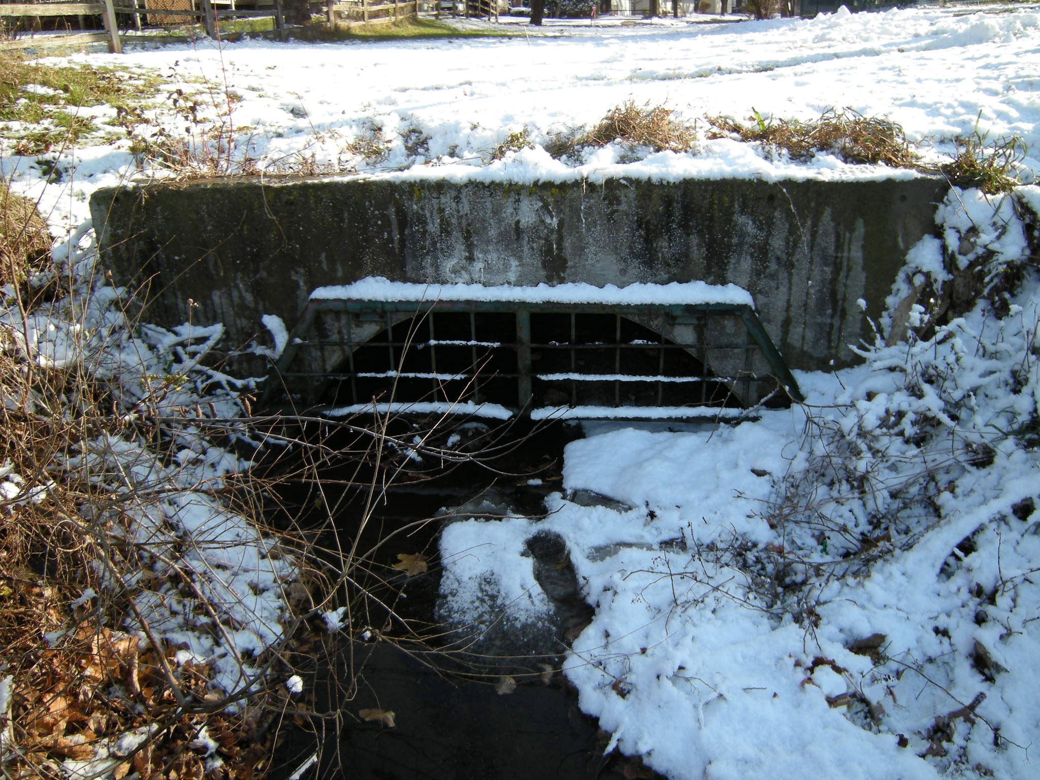 Sewer in the winter