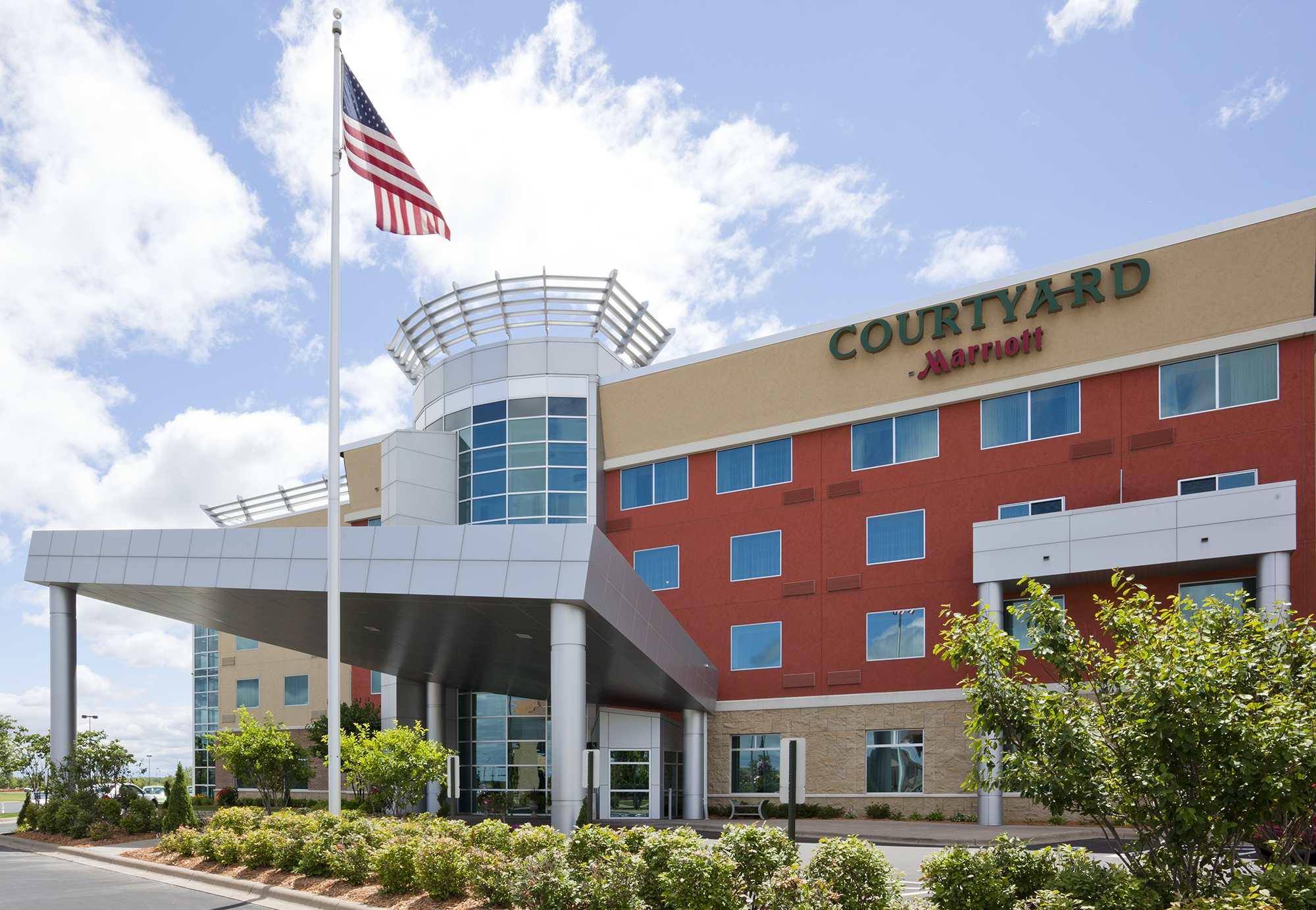 Outside view of a Courtyard by Marriott