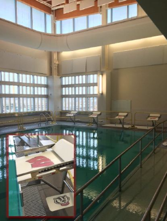 Lap pool area at UW Health at the American Center in Madison, WI
