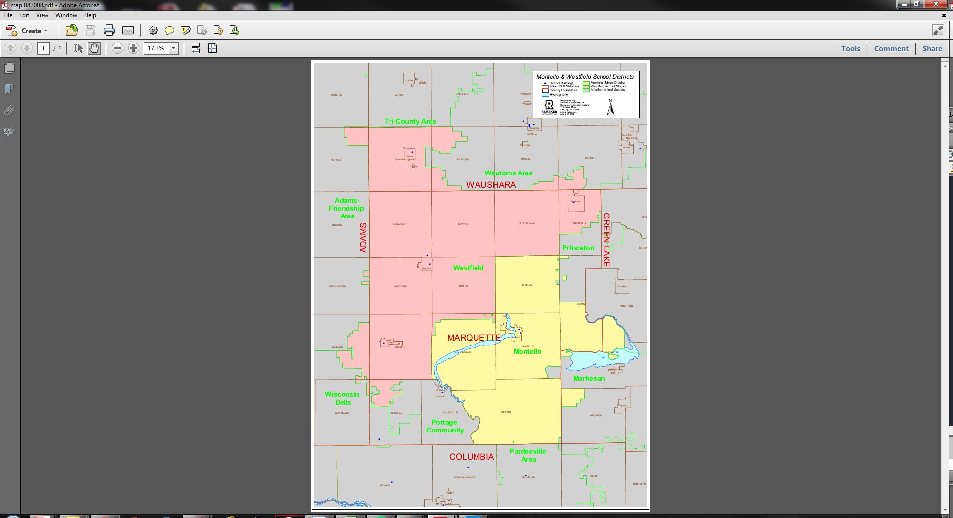 Screenshot of the GIS being used