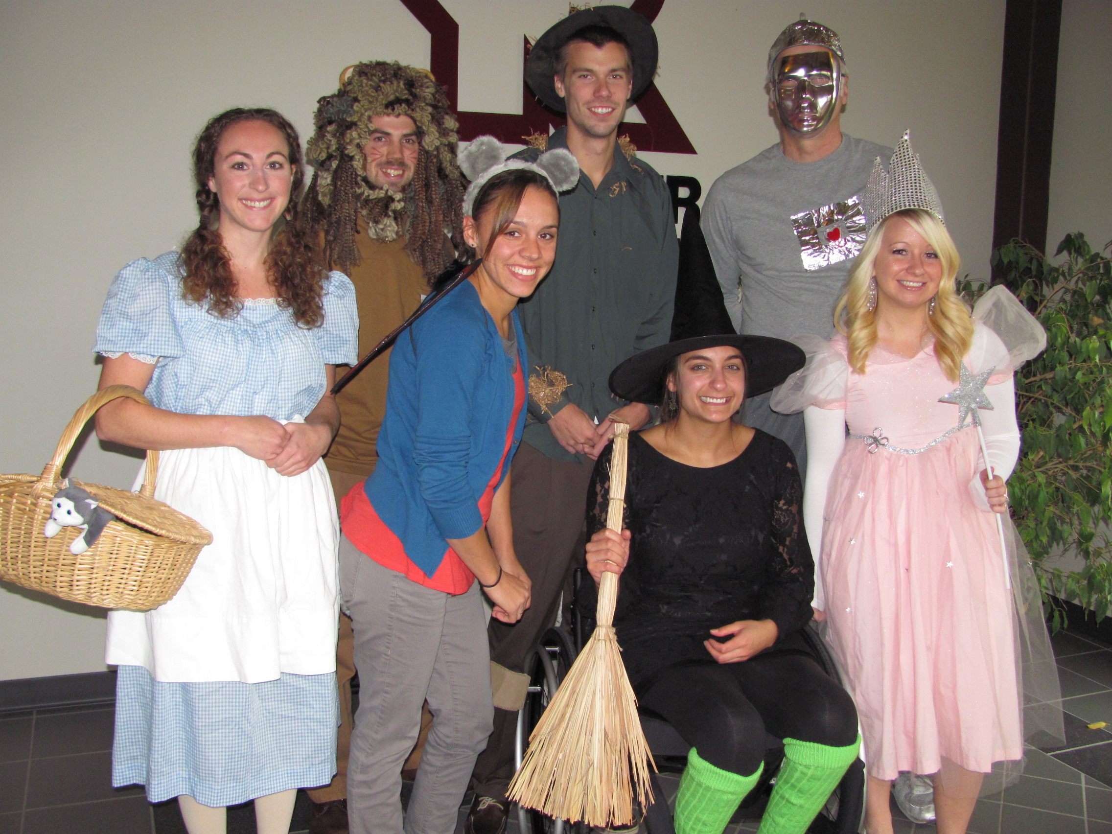 Employees dressed up as people from The Wizard of Oz for Halloween