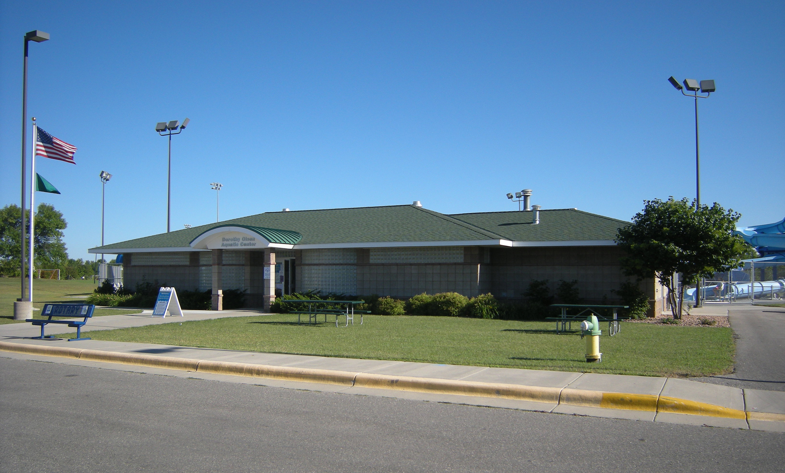 Outside of a recreation building example