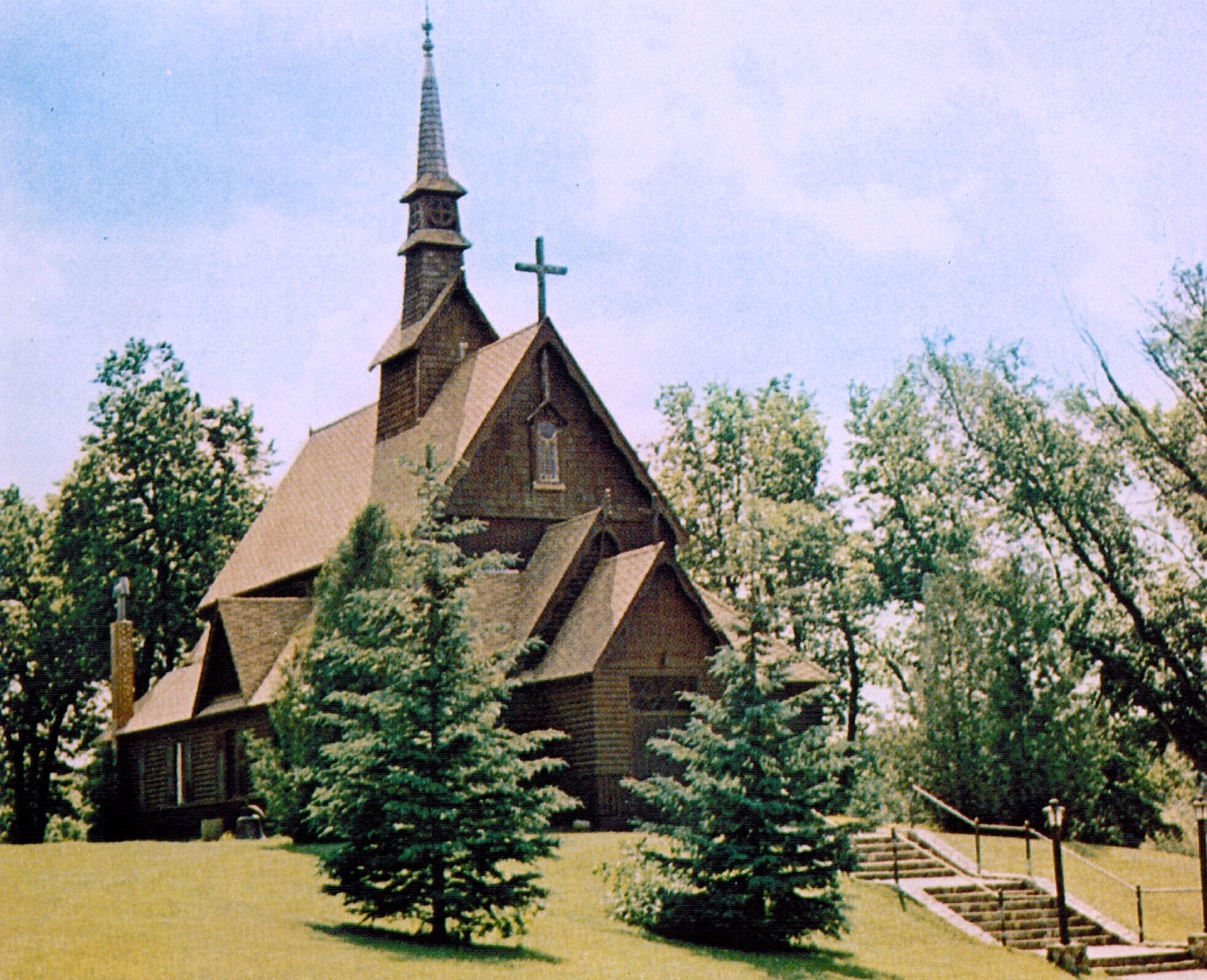 Outside view of a multi-family/religious example