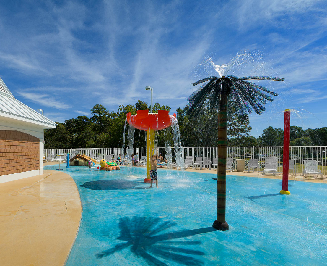 Kids play area at Bethpage Camp Resort in Urbanna, VA