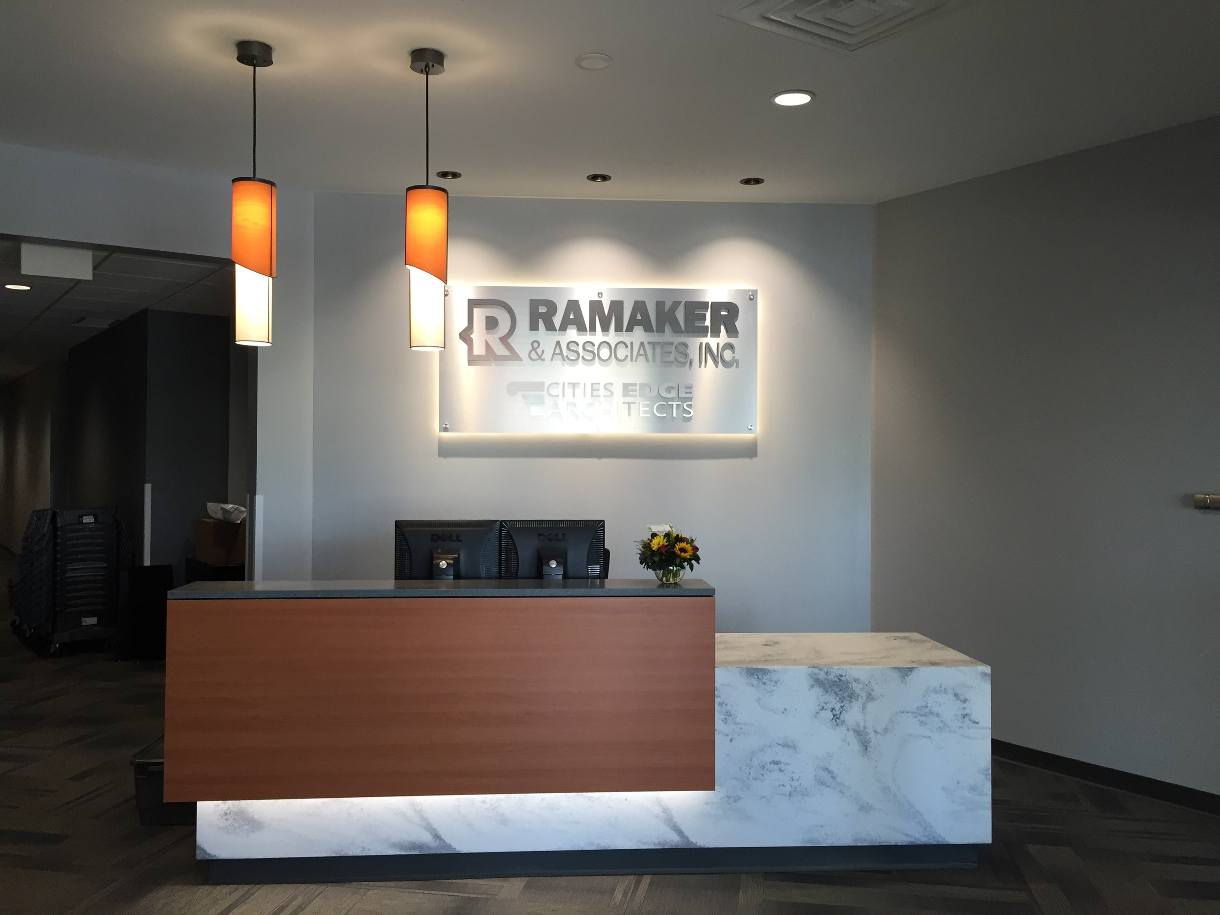 RMAKER front desk area